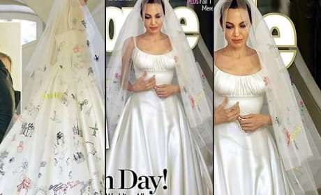 Angelina Jolie Wedding Dress: Beautiful!