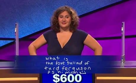 """Jeopardy Contestant Makes Alex Trebek Say """"Turd Ferguson"""""""