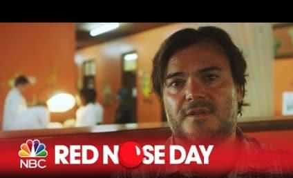 Jack Black Visits Children's Hospital for Red Nose Day