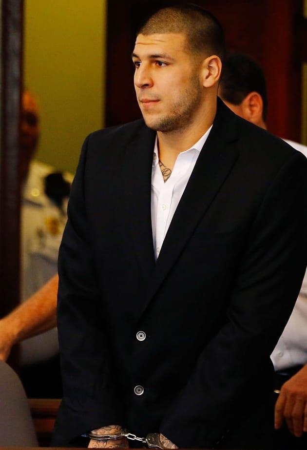 Aaron Hernandez in Cuffs