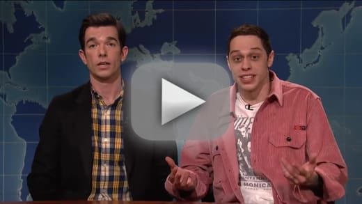 Pete davidson returns to snl touches on suicide threat