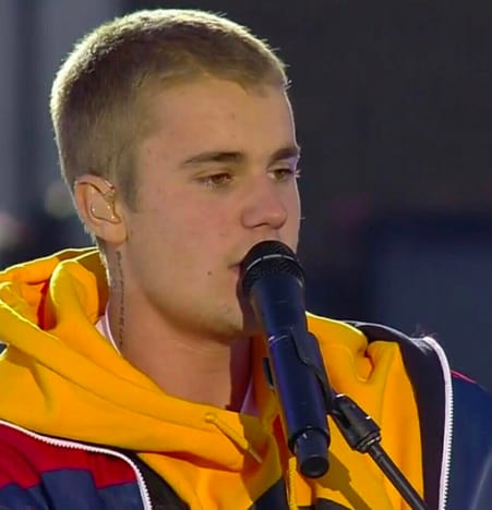 Justin Bieber in Manchester, England