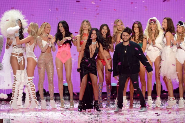 af417f569ae Selena Gomez and The Weeknd  2015 Victoria s Secret Fashion Show ...