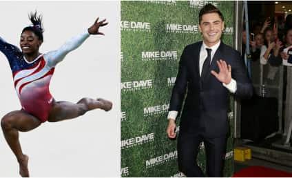 Simone Biles: Olympian Crushes On Zac Efron, Efron Crushes Right Back