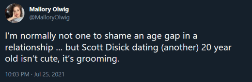 Scott Disick critical tweet - this is grooming (it is not)