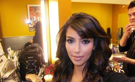 Kim Kardashian Snaps a Selfie