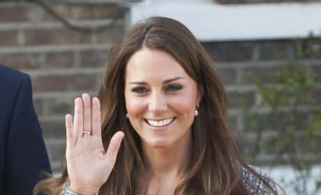 Kate Middleton Smiling, Waving