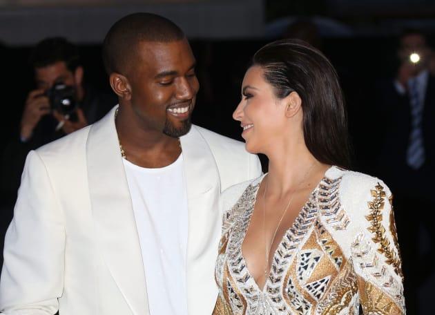 Kim Kardashian and Kanye West Photograph
