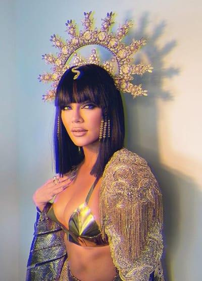 Khloe Kardashian on Halloween