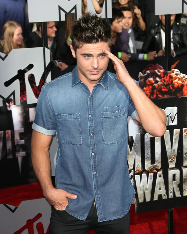Zac Efron at MTV Movie Awards