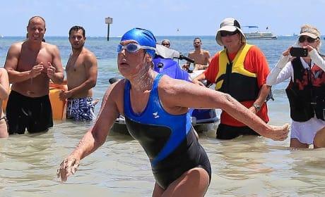 Diana Nyad Sets Swimming Record