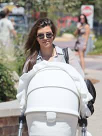 Kourtney Kardashian with a Stroller