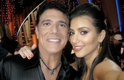 Kim Kardashian and Corky Ballas