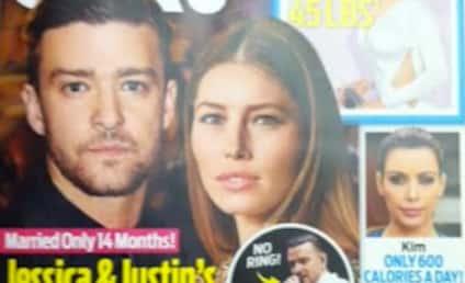 "Justin Timberlake-Jessica Biel Divorce Rumors Rage On; Tabloid Claims Couple ""Crumbling"""