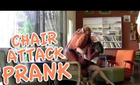 Human Chair Scare Prank - Hidden Man