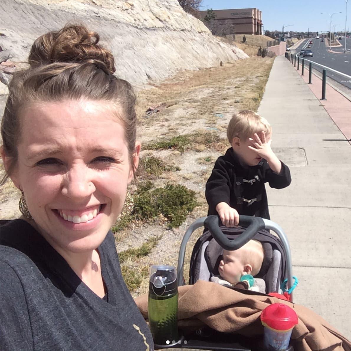 People Are Slamming Jill Duggar for Her Dangerous Stroller Hack