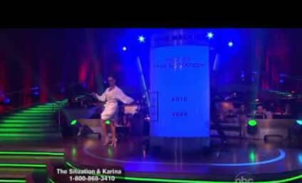 """Odd Situation: Mike and Karina Foxtrot to """"Boom Boom Pow"""" on Dancing With the Stars"""