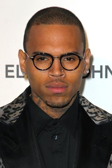 Chris Brown in Glasses