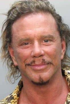 Mickey Rourke Mug Shot