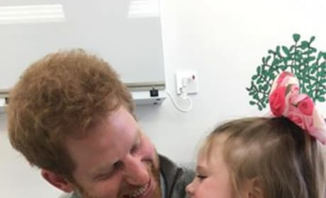Prince Harry Visits Terminally Ill Girl