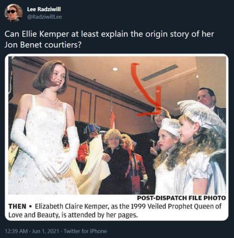 Ellie Kemper Veiled Prophet Queen photo tweet