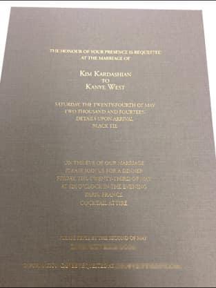 Kimye Wedding Invite
