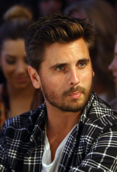 Scott Disick at a Fashion Show