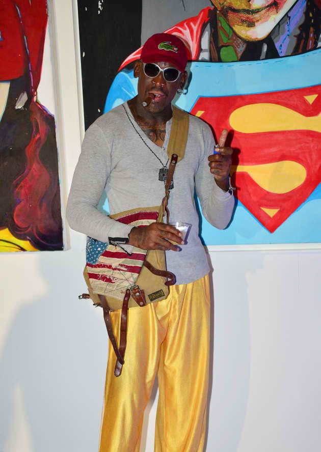Dennis Rodman Red Carpet Pic
