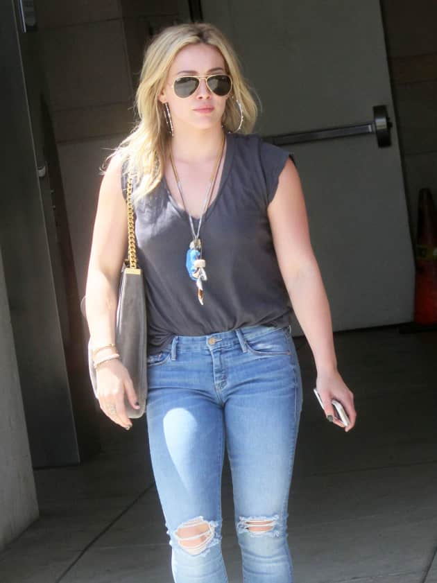 Hilary Duff on the Street