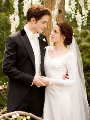 Edward And Bella Wedding Day Pic. Behind Bellau0027s Wedding Gown