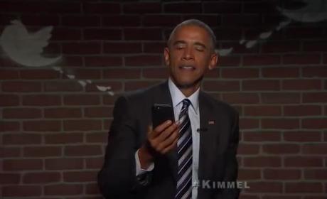Barack Obama Reads Mean Tweets