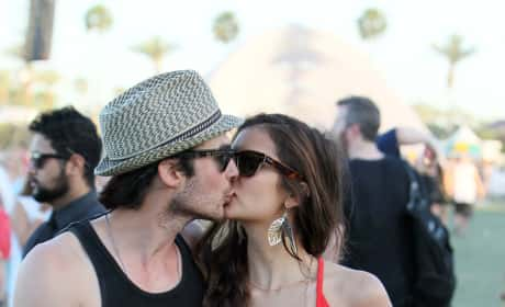 Nina Dobrev and Ian Somerhalder at Coachella