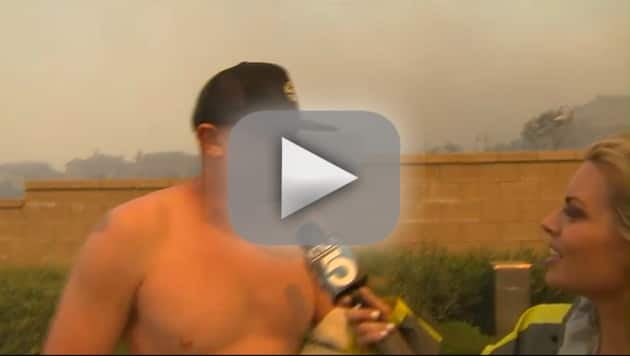 Shirtless Man Asks Out Reporter