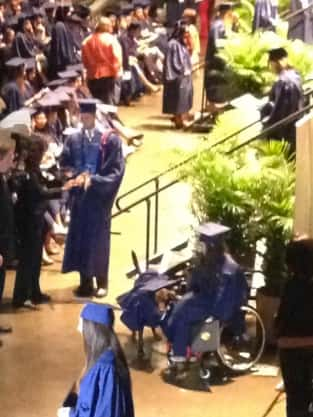 Service Dog at Graduation