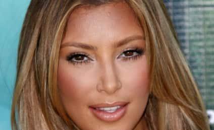 Kim Kardashian Khristens New Hair Kolor on Red Karpet