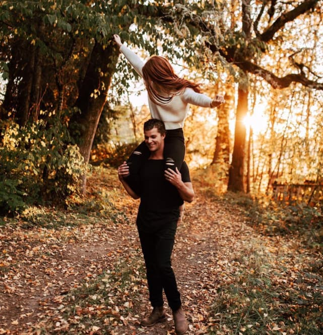 Audrey and jeremy in autumn