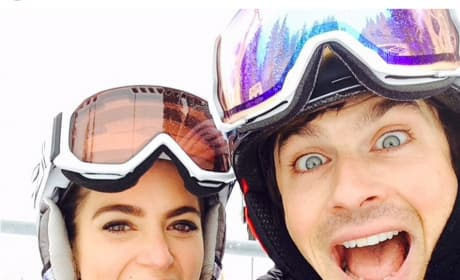 Nikki Reed and Ian Somerhalder on the Slopes