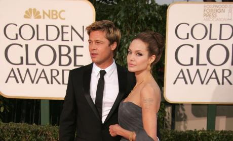 Brad Pitt and Angelina Jolie 2007 Golden Globes Pic