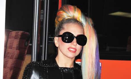 Lady Gaga's Rainbow Hair