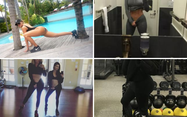 Khloe kardashian works it out