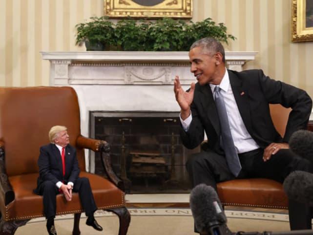 Tiny Trump, Big Obama