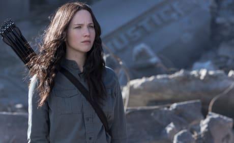 Katniss in Mockingjay