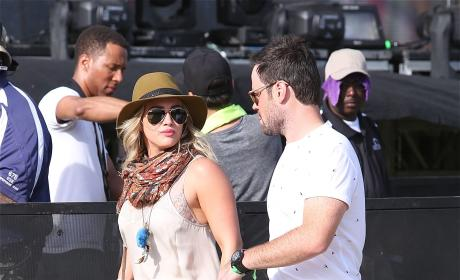 Hilary Duff and Mike Comrie at Coachella
