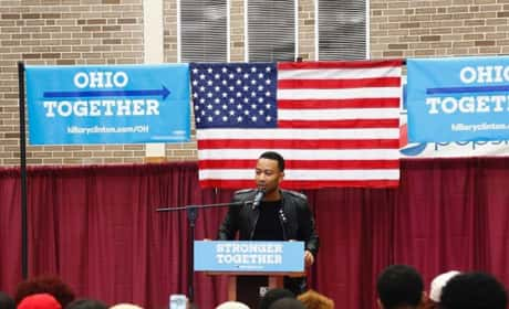 John Legend campaigning for Hillary
