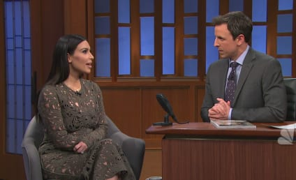 Kim Kardashian on Late Night: We Made Vogue History!
