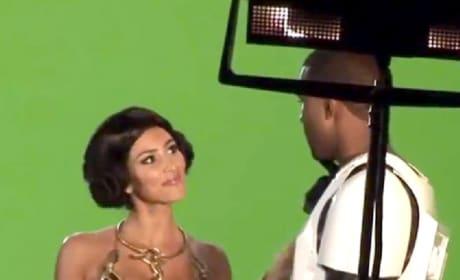 Kim Kardashian as Princess Leia, Kanye West as Stormtrooper