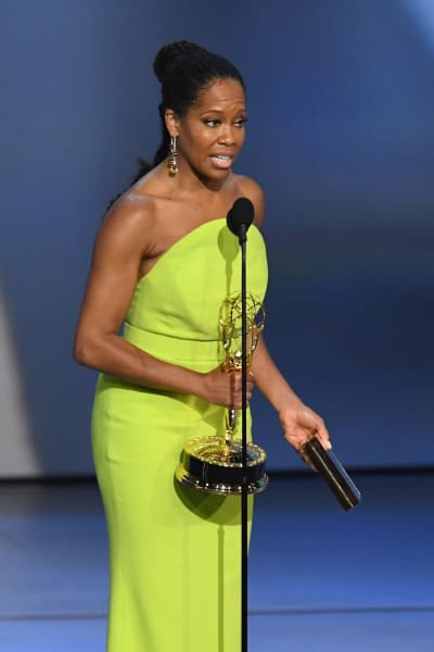 Regina King Accepts Emmy Award