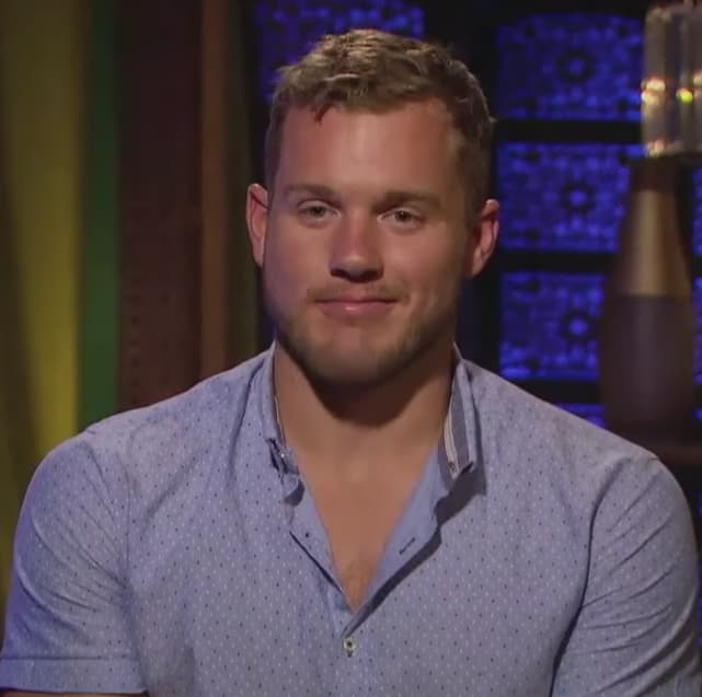 Colton underwood in a confessional
