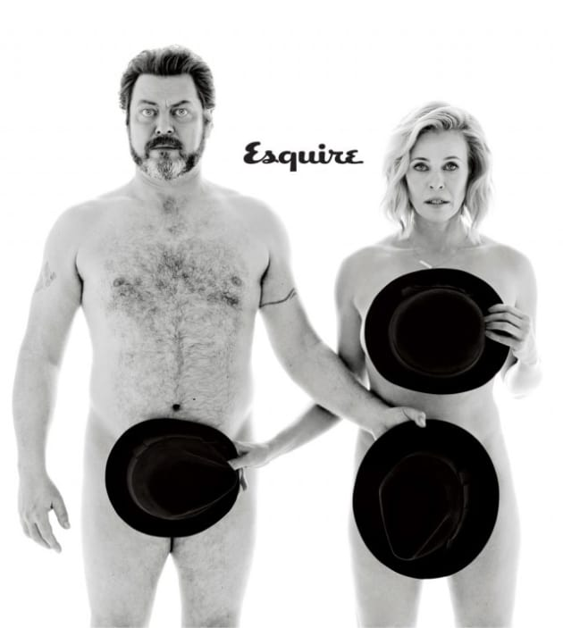 Chelsea Handler And Nick Offerman Esquire Cover - The Hollywood Gossip-1341