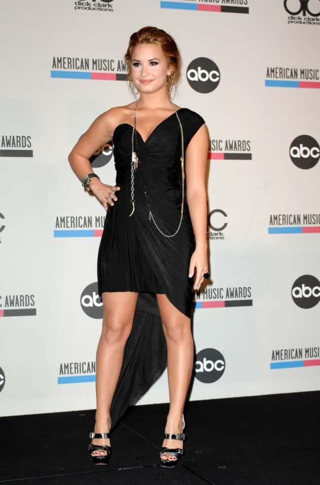 Demi Dressed in Black